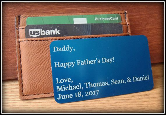 Wallet Card Message Card Father's Day Wedding Groom