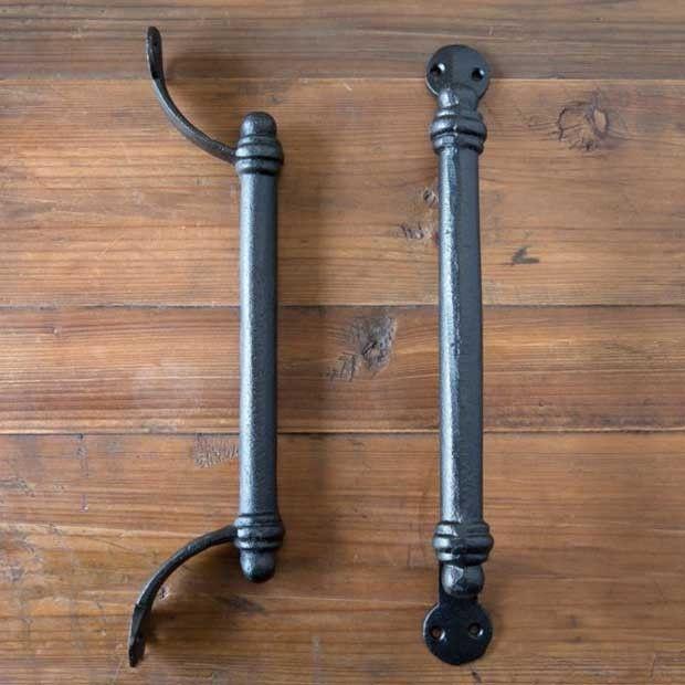 GOTHIC FLEUR DE LYS END CAST IRON DOOR HANDLE DRAWER PULL WH35