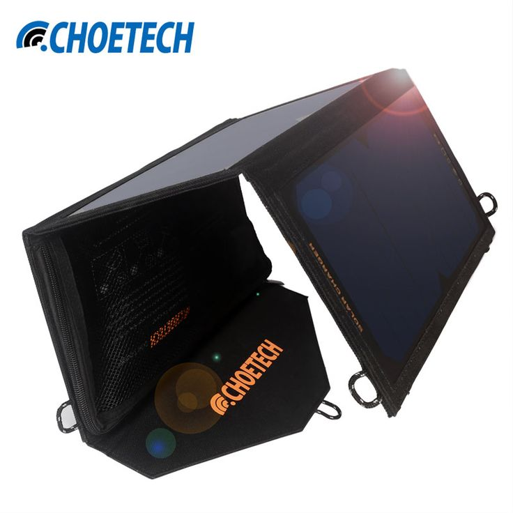 19W Solar Charger CHOE Waterproof Foldable Outdoor Solar Panel Battery USB Charger with Auto Detect Tech For iPhone 7 7 Plus