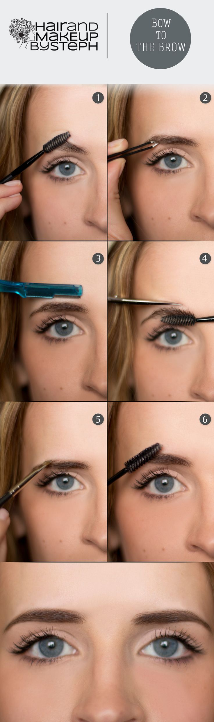 Bow to the Brow:  Eyebrow grooming tips.  blog.hairandmakeupbysteph.com