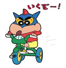 Crayon Shin-chan + Animated - http://www.line-stickers.com/crayon-shinchan/