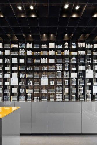 men science flagship store   shelving + display