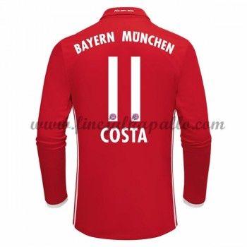 Jalkapallo Pelipaidat Bayern Munich 2016-17 Costa 11 Kotipaita Pitkähihainen