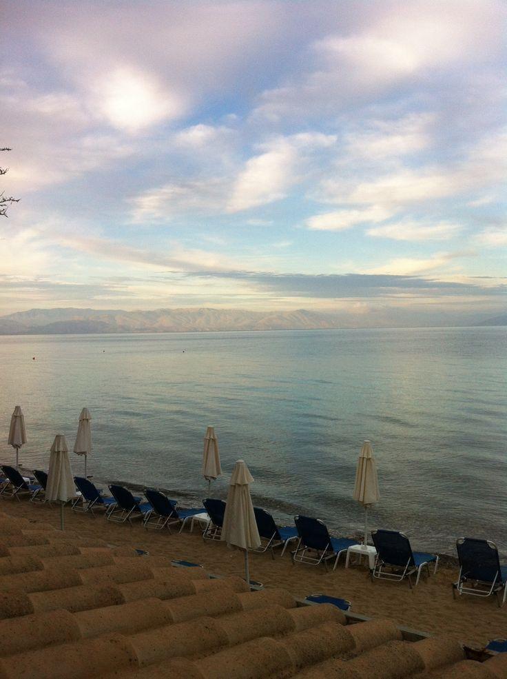 Corfu, Perama, beach