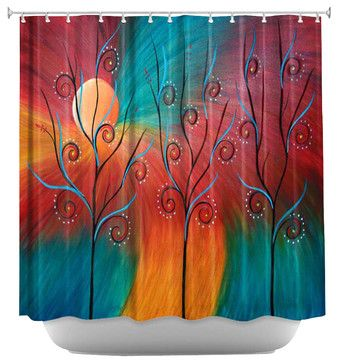Peacock Inspiration II Shower Curtain contemporary shower curtains