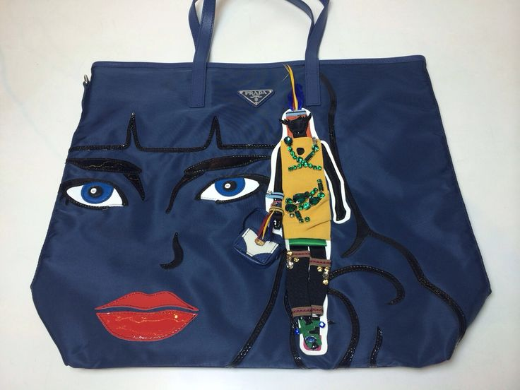 Kinda Kollection: Prada Shopper Nylon Limited Edition Robot ...