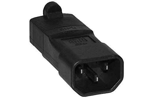 SF Cable, 3 prong Plug Adapter, USA NEMA 5-15R to IEC 60320-C14