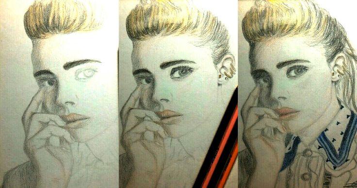 Chloe Grace Moretz attempt (WIP to Fin)  Color pencils.  #drawing #art #sketch #wip #chloe