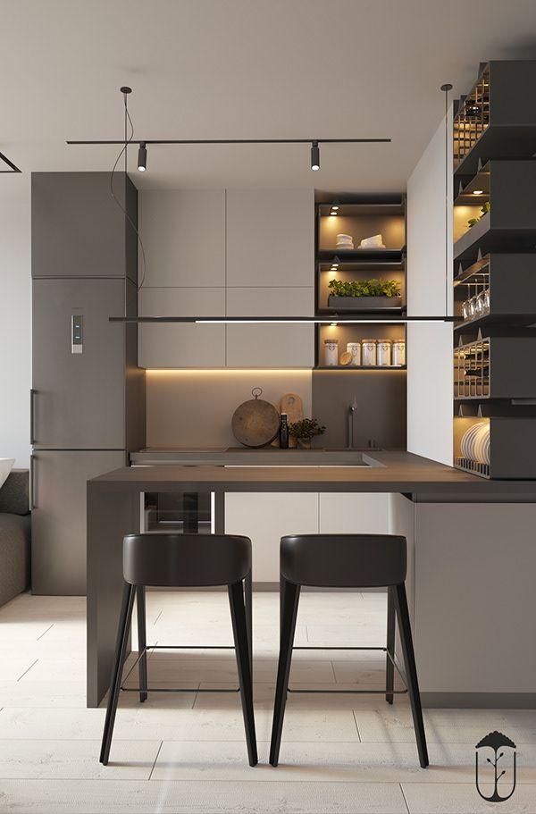 Ui022 On Behance Kitchen Design Small Modern Kitchen Design Interior Design Kitchen