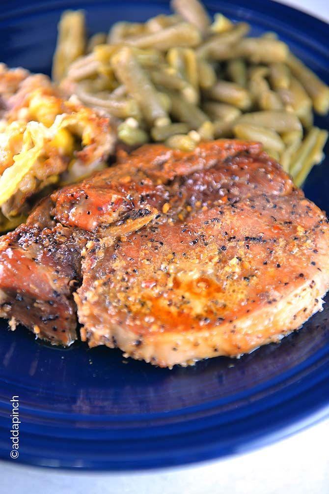 Simple Honey Soy Pork Chops Recipe from addapinch.com