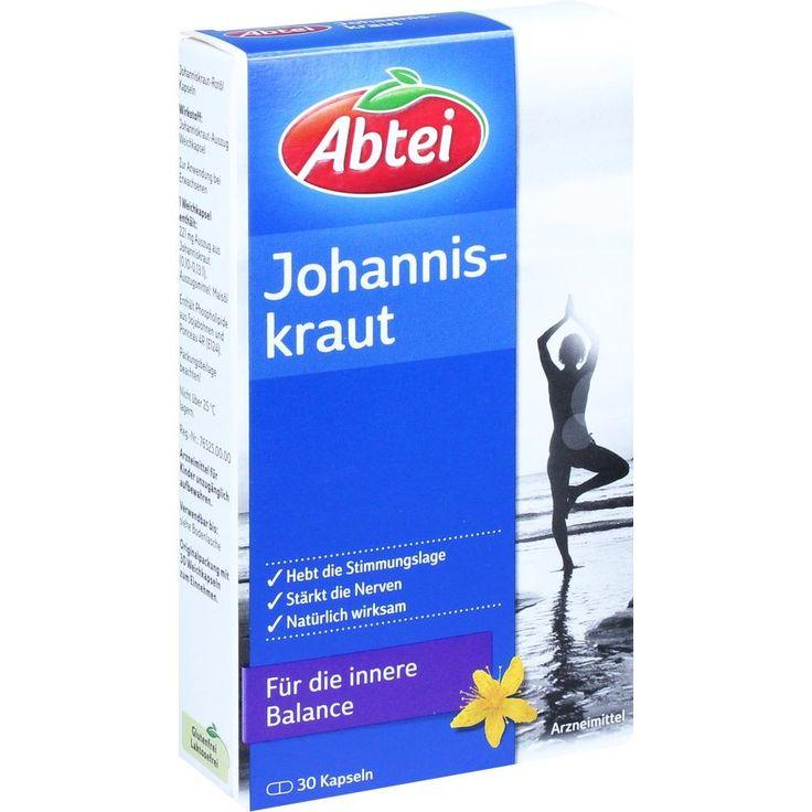 ABTEI Johanniskraut Rotöl Kapseln:   Packungsinhalt: 30 St Kapseln PZN: 10169438 Hersteller: Omega Pharma Deutschland GmbH Preis: 3,59…
