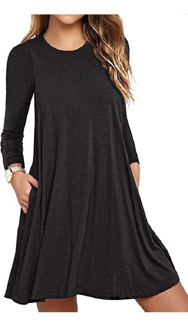 348229c576f3 Unbranded Women s Long Sleeve Pocket Casual Loose T-Shirt Dress  fashion   fashionblogger  fashiondesign  girl  girlsdresses  men  mensfashion   womensfashion ...
