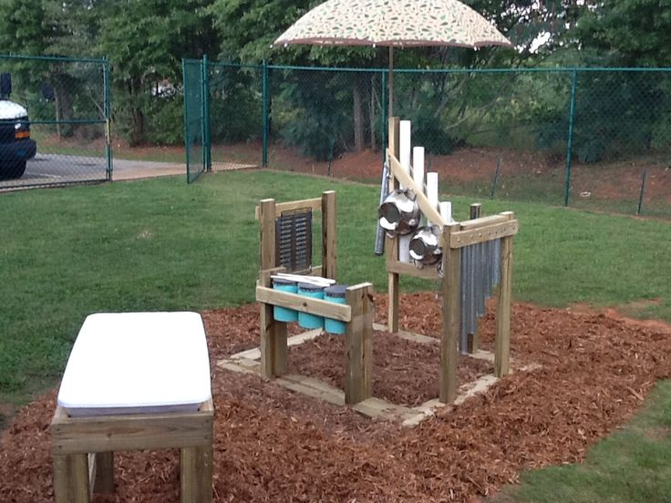 Music Area With Old Kitchen Gadgets Pvc Pipe And