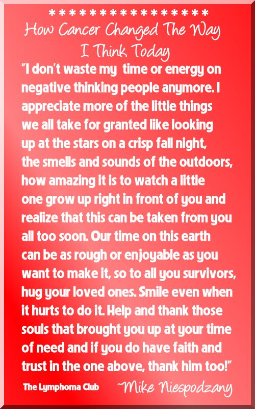 How Cancer Changed The Way I Think Today Cancer Survivor Quote   #cancersurvivorquote #cancerquotes #lymphoma #cancerawareness