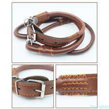Resistant To Bite Leather Collar Dog Pet Single String Studded Cool For dog NEW