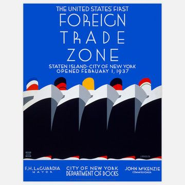 Foreign Trade Zone poster by Jack Rivolta
