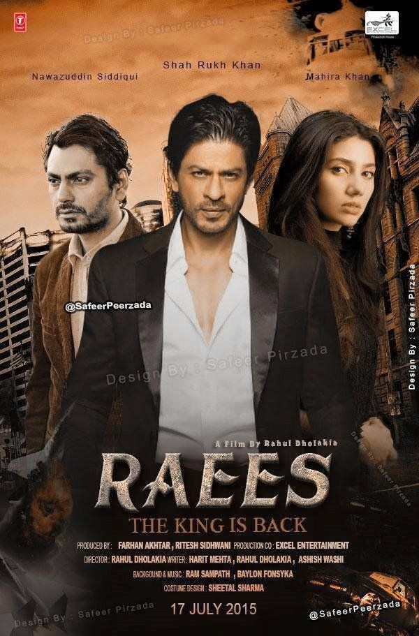 Shah Rukh Khan's #Raees Movie Poster. New movie