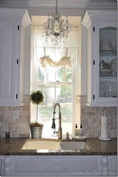 ikea chandelier over kitchen sink - Google Search
