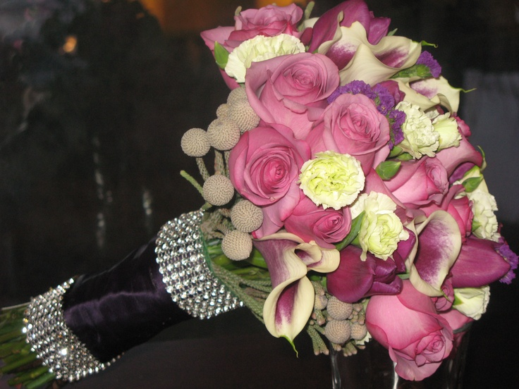 hand tied wedding bouquets bridal bouquet featuring cool water roses 4690