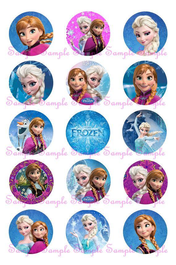 Frozen Disney 30 Elsa And Anna Circle 1 Quot Inch Instant