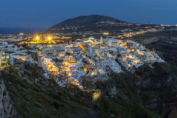 Santorini - The town of Fira, the capital of Santorini island, in Aegean Sea, Greece.