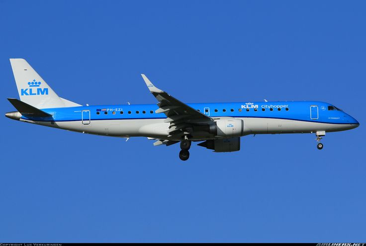 Embraer 190STD, KLM Cityhopper, PH-EZI, cn 19000322. Brussels, Belgium, 15.2.2016.