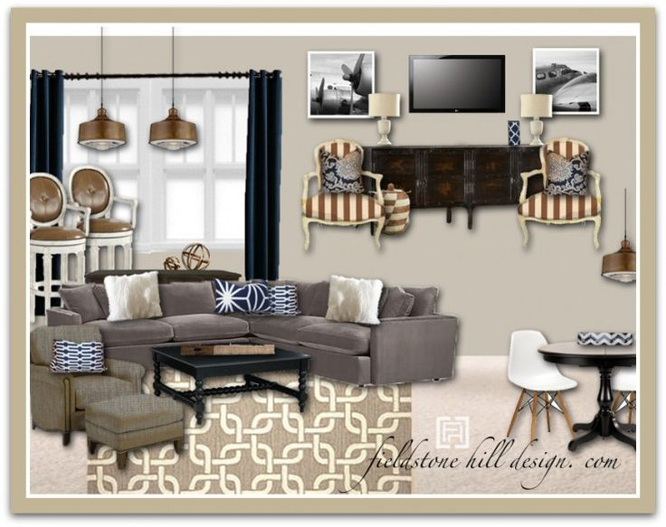 Casual Family Room Decorating Ideas Part - 37: Overcoming Decorating Paralysis :: Let Your Values Influence Your Decorating.  Casual Family RoomsBasement ...