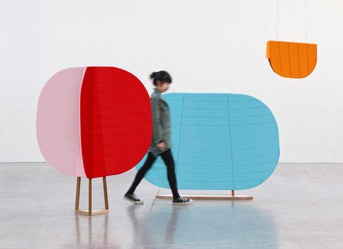 Hide and Seek room dividers by Thinkk Studio