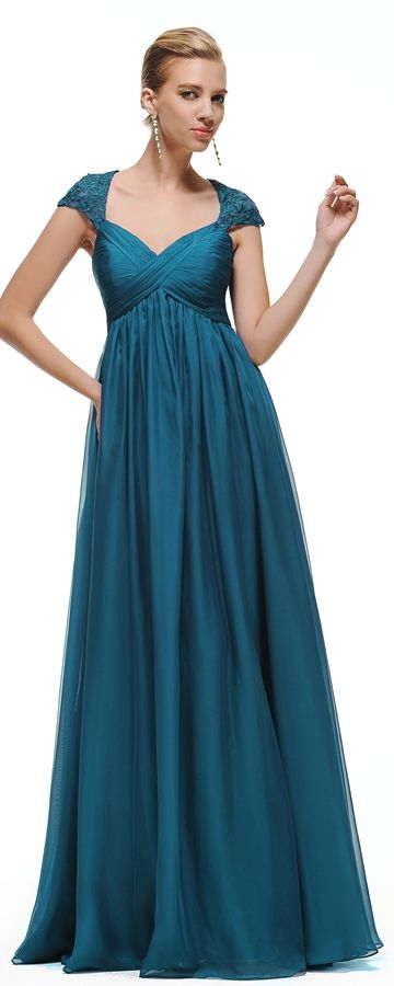 Teal maternity bridesmaid dresses empire waist teal maid of honor dresses cap sleeves pregnant bridesmaid dress