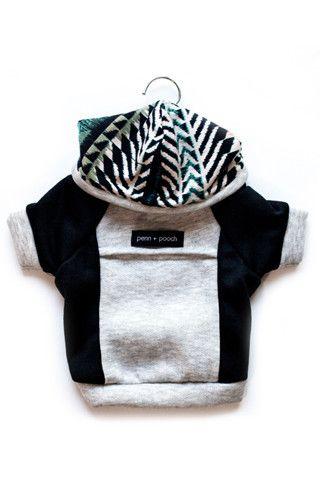 the emerson - multi/black + drip herringbone quality dog hoodie #PPxSDCgiveaway