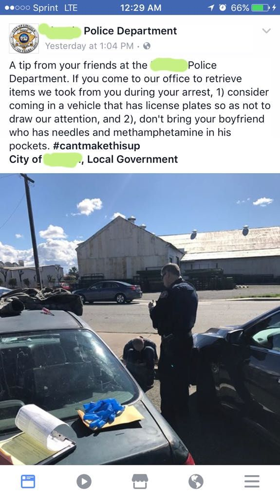 Tip from Local Police Department – I'm That Bored