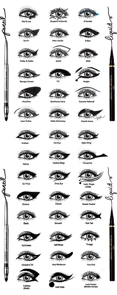 Todos los tipos de delineado que te puedas imaginar                                                                                                                                                                                 Más http://likyon.com/koji-dolly-wink-liquid-eyeliner-deep-black/