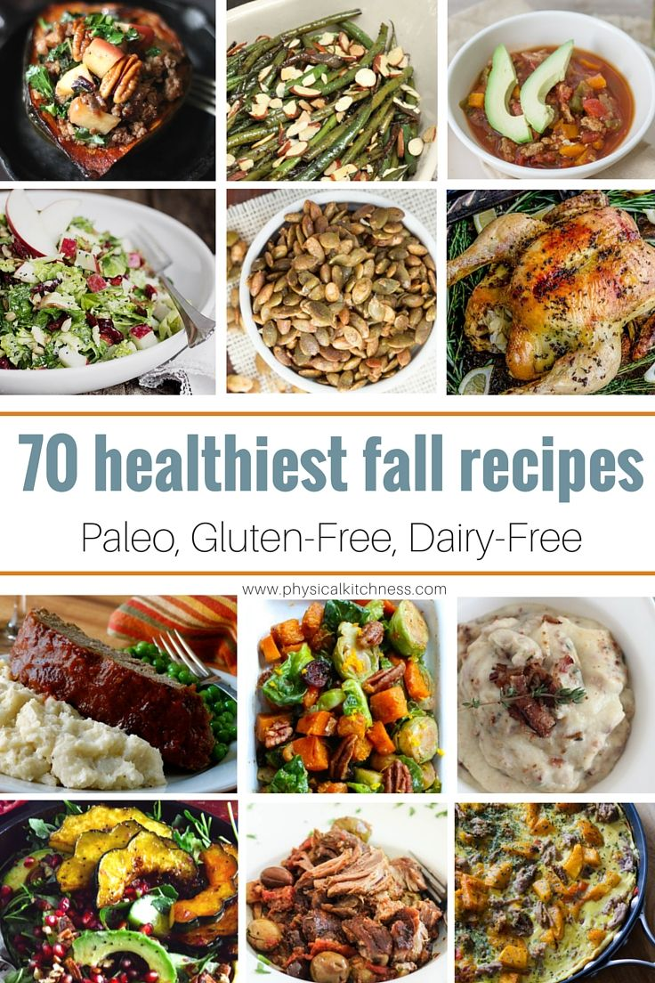 A round-up of 70 seasonal fall recipes that are Paleo, Gluten-Free, Grain-Free and Dairy Free.