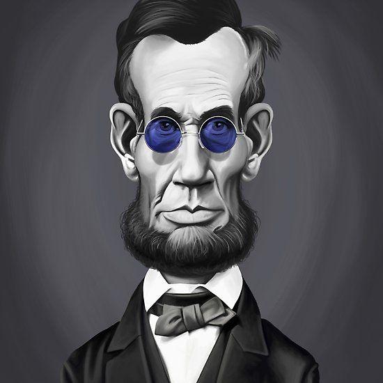 Abraham Lincoln Steampunk art   decor   wall art   inspiration   caricature   home decor   idea   humor   gifts