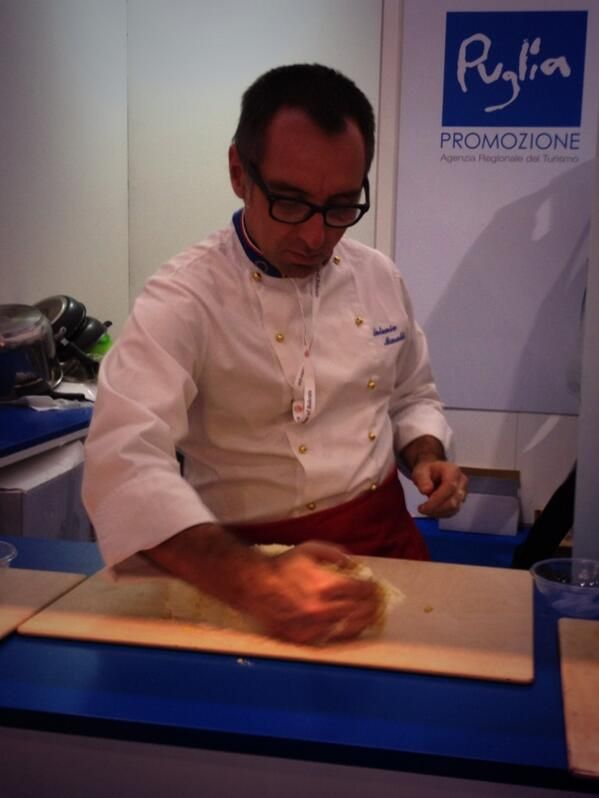 Thanks @Steph | A Nerd At Large for joining our cooking lessons! Hope you had fun in #WeAreinPuglia stand :) #WTM13