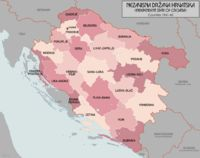 Croatia was a World War II puppet state of Germany and Italy, which was established in parts of Axis-occupied Yugoslavia. The NDH was founded on 10 April 1941, after the invasion of Yugoslavia by the Axis powers. The NDH consisted of most of modern-day Croatia and Bosnia and Herzegovina, together with some parts of modern-day Serbia. The regime targeted Serbs, Jews, Muslims and Roma people, as part of a large-scale genocide campaign in places such as the Jasenovac concentration camp.