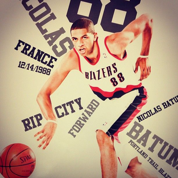 Portland Trail Blazers - First 10,000 Fans Inside The Arena Will Receive This Free Nicolas Batum Poster