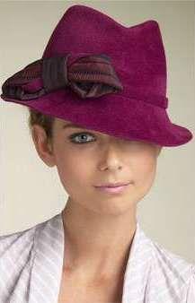women's hat #millinery #judithm #hats A perky fedora