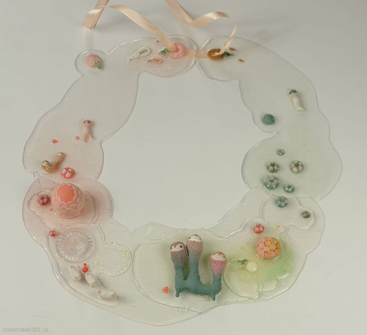 Ji-hye Lee - necklace Swamp 1 2010, Sculpey, silicone, silver  350 x 310 x 45 mm - South Korea, Seoul, Kookmin University