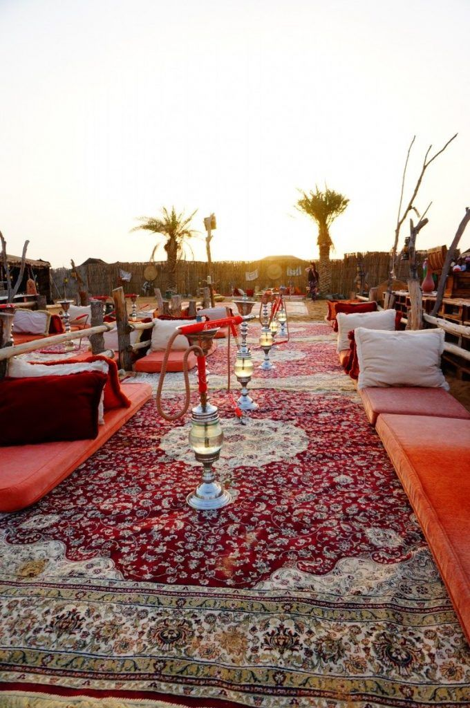 The Arabian Nights style camp on a Vintage desert safari.
