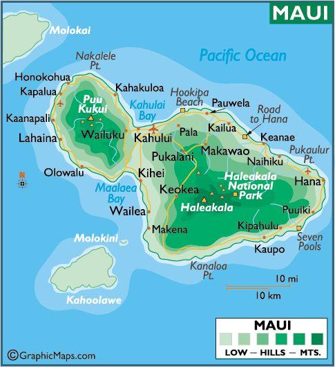 Maui Maps Printable Maps Gt Maui Large Color Map Hawaii In 2019 Maui Hawaii Hawaii Maui