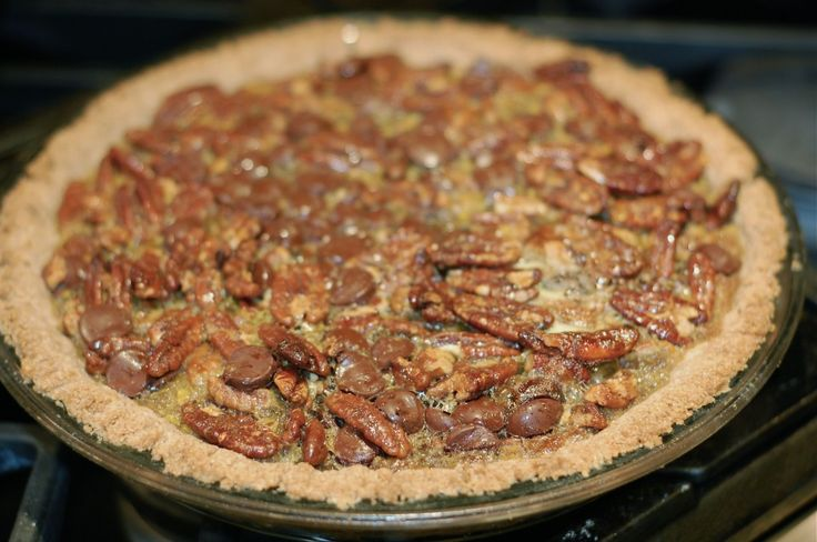 "shortcut"" chocolate pecan pie (with more wholesome ingredients than ..."
