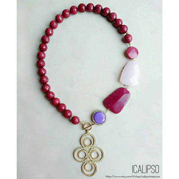 Guarda questo articolo nel mio negozio Etsy https://www.etsy.com/it/listing/526196799/rosa-gioielli-per-le-donne-collana