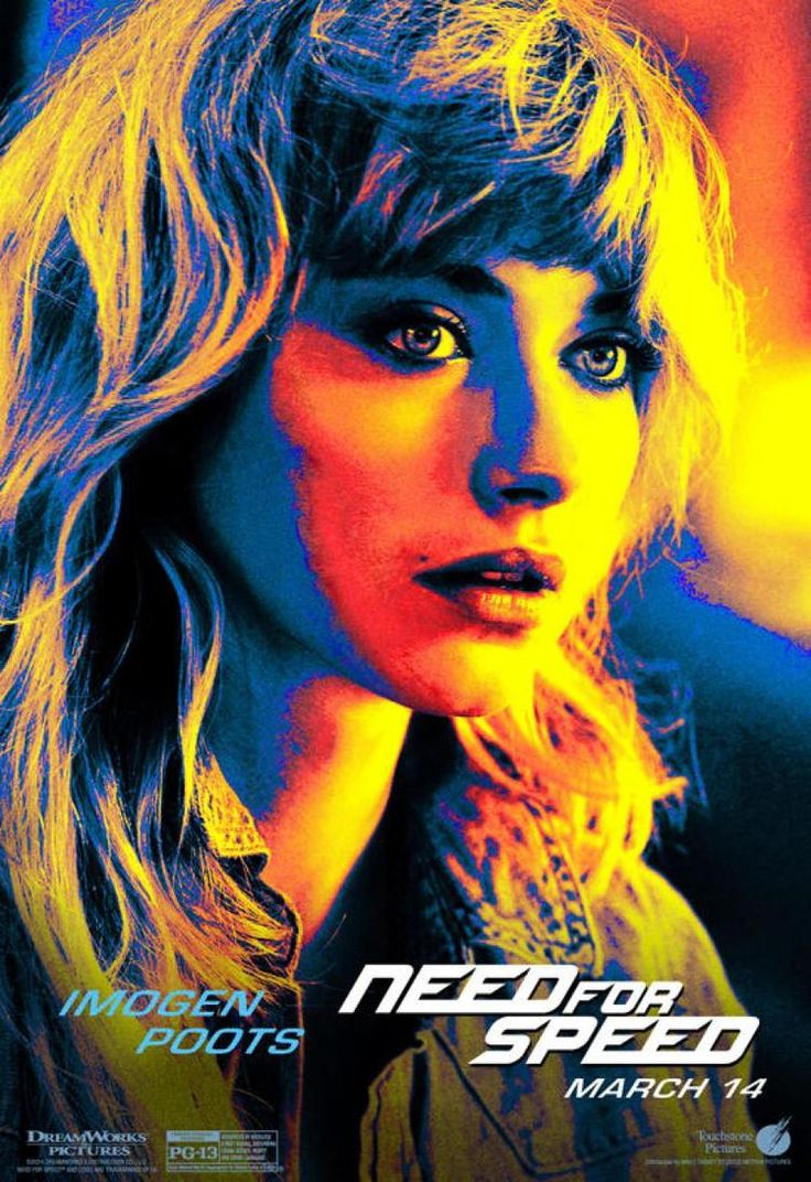 NEED FOR SPEED poster featuring Imogen Poots (2014)