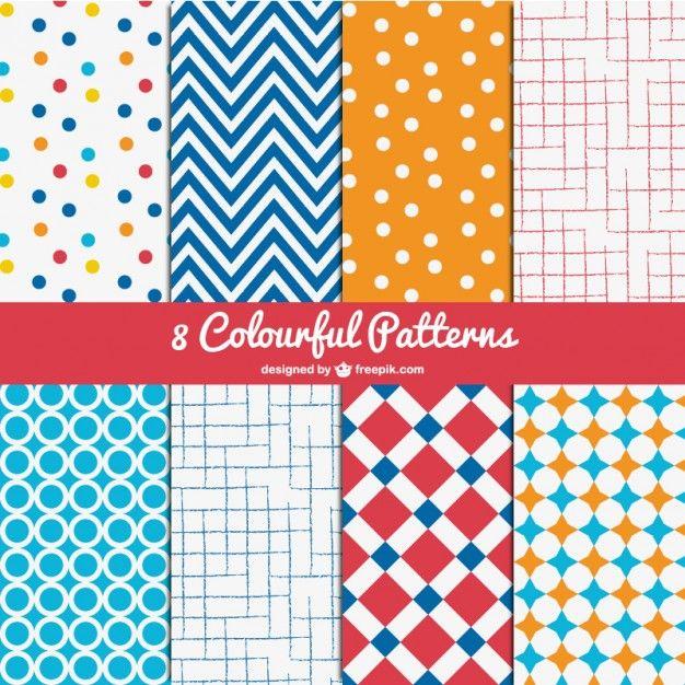 Colorful Patterns Pack  http://blog.templatemonster.com/2014/12/10/free-vector-patterns/?utm_source=Pinterest&utm_medium=Blog&utm_campaign=FrPtrnP