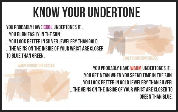 how to find your undertone for dark skin