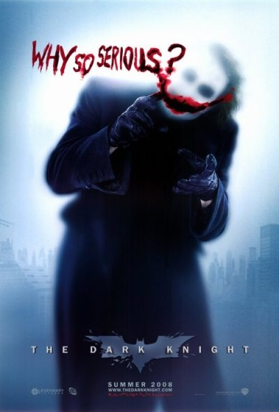 "Why so serious? Frase reconocida de ""The Joker"" del flim ""Batman: El Caballero de la noche"""