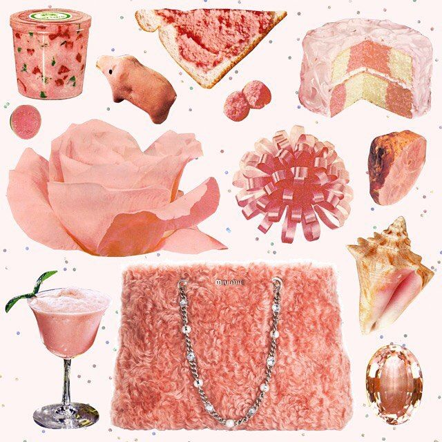 respost @miumiu 💕 p i n k collage #miumiu how rad is that fluffy bag?!