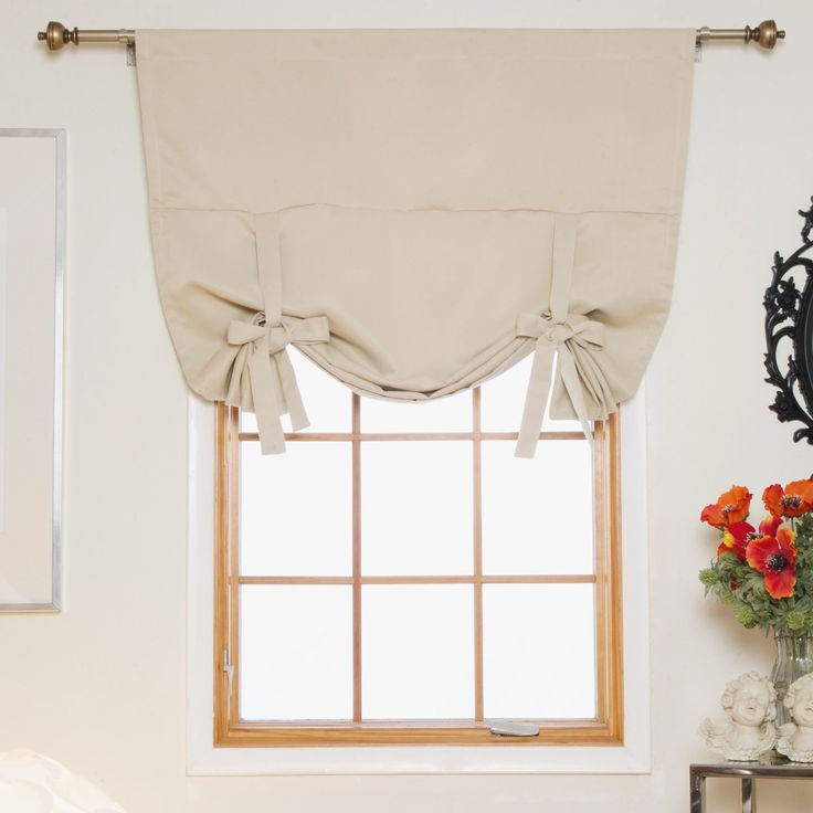 Chocolate Rod Pocket Thermal Insulated Blackout Tie Up Shade Curtain ...