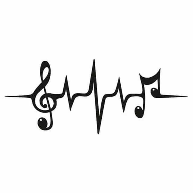 Music Heart Beat Electrocardiogram Decal For The Music Lovers Out